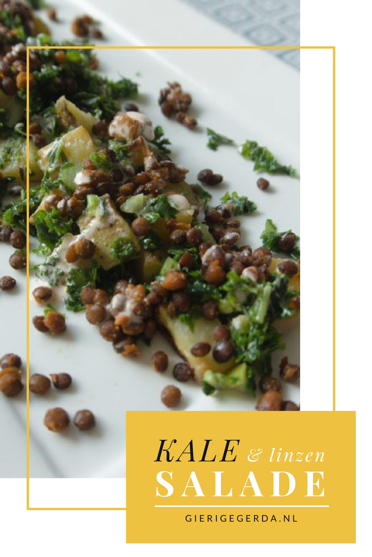 Boerenkool en linzen salade