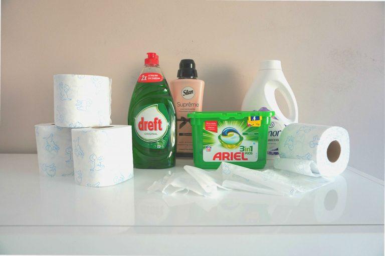 Wc papier afwasmiddel wasmiddel