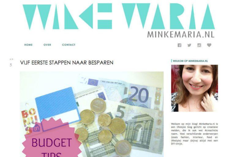 terugblik Minke Maria besparen