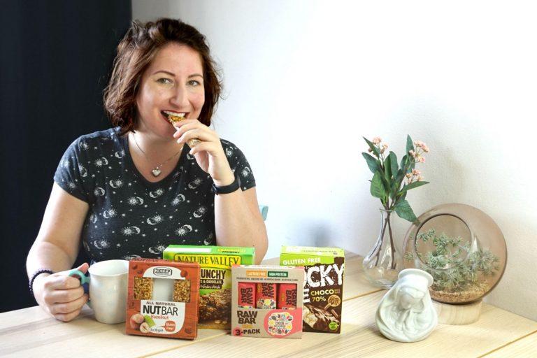 gezonde tussendoortjes snacks reep chocolade Action