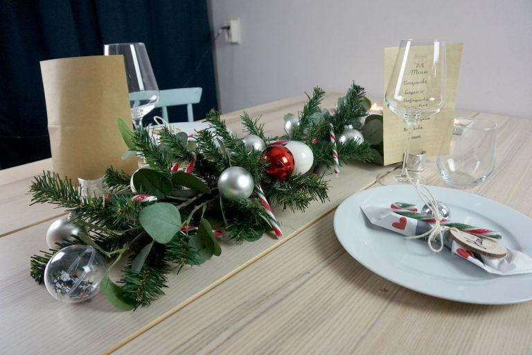 DIY tafelversiering kerst kersttafel kerstdiner